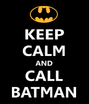 Мужская майка Keep-calm and call batman.