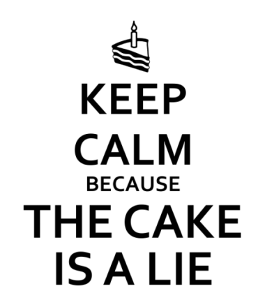 Толстовка Keep calm because the cake is a lie