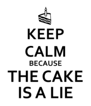 Кружка Keep calm because the cake is a lie