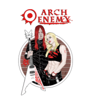 Толстовка без капюшона Arch Enemy. Michael and Angela.