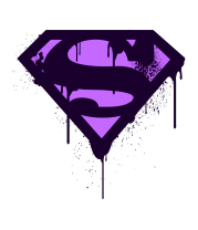 Бейсболка Superman Purple Splatter Logo