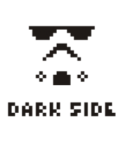 Бейсболка Dark side pixels