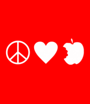 Бейсболка Peace Love Apple