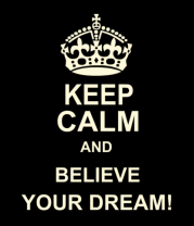 Толстовка Keep  calm and believe your dream!