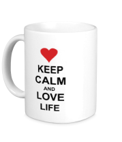 Кружка Keep calm and love life