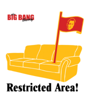 Женская майка борцовка The Big Bang Theory. Restricted area!
