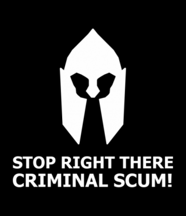 Женская майка борцовка Stop right there, criminal scum!