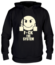 Толстовка худи Fuck the system (свет)