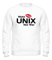 Толстовка без капюшона Make unix, not war