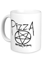 Кружка Eat pizza, die young!
