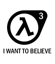 Чехол для iPhone Half-life 3 | I want to believe