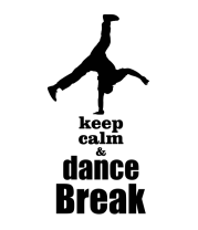 Чехол для iPhone Keep_calm & dance break man