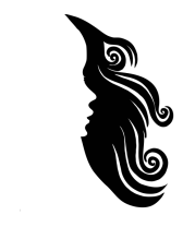 Женская майка борцовка Woman's Face and Hair Negative Space