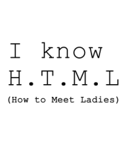 Мужская майка I know H.T.M.L (how to meet ladies)