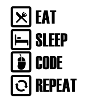 Толстовка Eat, sleep, code, repeat