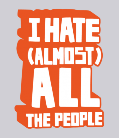 Толстовка I Hate Almost All The People
