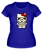 Женская футболка Kitty storm trooper светится