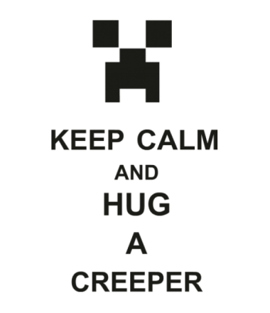 Толстовка keep calm and hug a creeper